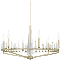 Adira 6 Light 30 inch Winter Gold Chandelier Ceiling Light