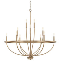 Capital Lighting 428501AD Greyson 12 Light 40 inch Aged Brass Chandelier Ceiling Light, HomePlace