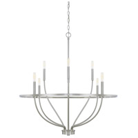 Greyson 8 Light 34 inch Brushed Nickel Chandelier Ceiling Light, HomePlace
