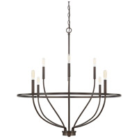 Capital Lighting 428581BZ Greyson 8 Light 34 inch Bronze Chandelier Ceiling Light, HomePlace