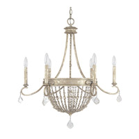 Capital Lighting Signature 6 Light Chandelier in Silver Quartz 4286SQ-000-PC