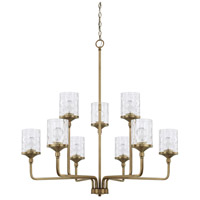 Colton 9 Light 38 inch Aged Brass Chandelier Ceiling Light, HomePlace