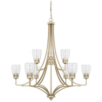 Newbury 9 Light 37 inch Winter Gold Chandelier Ceiling Light, HomePlace