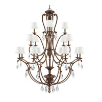 Capital Lighting Claybourne 16 Light Chandelier in Suede 4290SD-608-CR