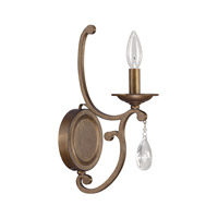 Capital Lighting Claybourne 1 Light Sconce in Suede 4291SD-000-CR