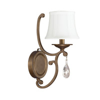 Capital Lighting Claybourne 1 Light Sconce in Suede 4291SD-608-CR
