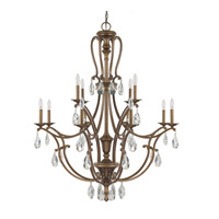 Capital Lighting Claybourne 12 Light Chandelier in Suede 4292SD-000-CR