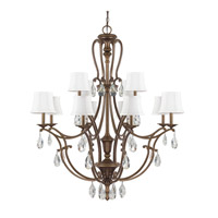 Capital Lighting Claybourne 12 Light Chandelier in Suede 4292SD-608-CR