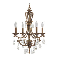 Capital Lighting Claybourne 4 Light Chandelier in Suede 4294SD-000-CR