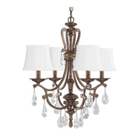 Capital Lighting Claybourne 4 Light Chandelier in Suede 4294SD-608-CR