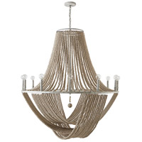 Capital Lighting 429501MS Kayla 12 Light 42 inch Mystic Sand Chandelier Ceiling Light photo thumbnail