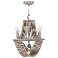Capital Lighting 429541MS Kayla 4 Light 15 inch Mystic Sand Chandelier Ceiling Light