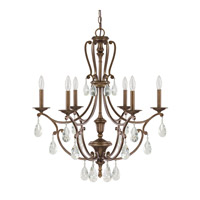 Capital Lighting Claybourne 6 Light Chandelier in Suede 4296SD-000-CR