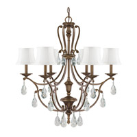 Capital Lighting Claybourne 6 Light Chandelier in Suede 4296SD-608-CR