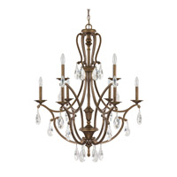 Capital Lighting Claybourne 9 Light Chandelier in Suede 4299SD-000-CR