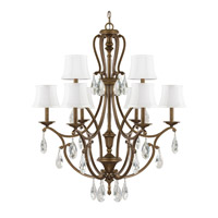 Capital Lighting Claybourne 9 Light Chandelier in Suede 4299SD-608-CR