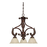 Capital Lighting Monarch 3 Light Chandelier in Gilded Bronze with Rust Scavo Glass 4303GB-260 photo thumbnail