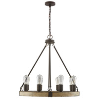 Capital Lighting 430681SS Elijah 8 Light 26 inch Sea Salt Chandelier Ceiling Light