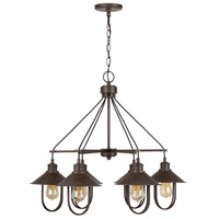 Capital Lighting 430861MI Pawley 6 Light 28 inch Mineral Brown Chandelier Ceiling Light