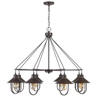 Capital Lighting 430881MI Pawley 8 Light 40 inch Mineral Brown Chandelier Ceiling Light