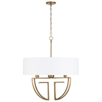 Capital Lighting 431041AD-686 Signature 4 Light 28 inch Aged Brass Chandelier Ceiling Light