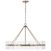 Capital Lighting 431161AD Drew 6 Light 32 inch Aged Brass Chandelier Ceiling Light
