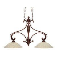 Capital Lighting Monarch 2 Light Island Light in Gilded Bronze with Rust Scavo Glass 4311GB