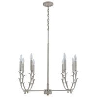 Capital Lighting 431481WW Jardin 8 Light 28 inch Winter White Chandelier Ceiling Light