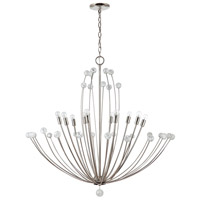 Capital Lighting 431701PN Audra 10 Light 38 inch Polished Nickel Chandelier Ceiling Light