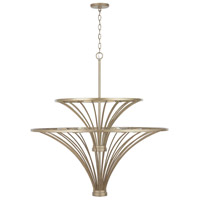 Capital Lighting 432091AP Fontaine 9 Light 37 inch Aged Brass Painted Chandelier Ceiling Light