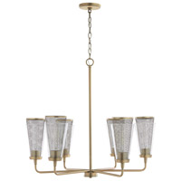 Capital Lighting 432361AD Abbott 6 Light 31 inch Aged Brass Chandelier Ceiling Light