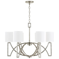Capital Lighting 432461AS-689 Bryce 6 Light 30 inch Antique Silver Chandelier Ceiling Light