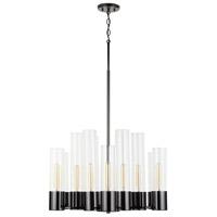 Capital Lighting 432601BC Logan 12 Light 28 inch Black Chrome Chandelier Ceiling Light