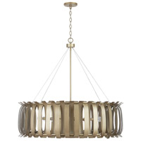 Cayden 8 Light 38 inch Aged Brass Painted Chandelier Ceiling Light