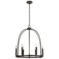 Capital Lighting 432861MI Elijah 6 Light 22 inch Mineral Brown Chandelier Ceiling Light