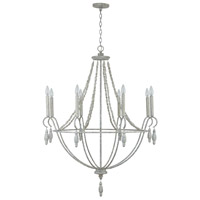 Capital Lighting 432881MS Signature 8 Light 36 inch Mystic Sand Chandelier Ceiling Light