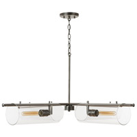 Capital Lighting 432941AN Webster 4 Light 44 inch Antique Nickel Chandelier Ceiling Light