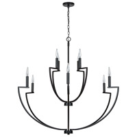 Capital Lighting 433001MB Palmer 10 Light 45 inch Matte Black Chandelier Ceiling Light