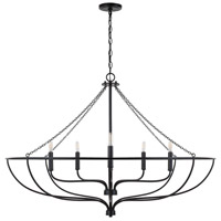 Capital Lighting 433261MB Nira 6 Light 44 inch Matte Black Chandelier Ceiling Light