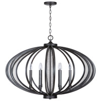 Capital Lighting 433661MG Hera 6 Light 36 inch Midnight Grey Chandelier Ceiling Light