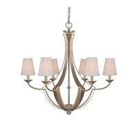 Soho 6 Light 29 inch Winter Gold Chandelier Ceiling Light