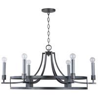 Capital Lighting 433761MG Lathem 6 Light 34 inch Midnight Grey Chandelier Ceiling Light