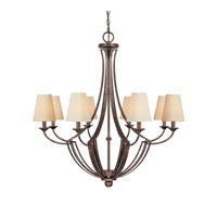 Capital Lighting Soho 8 Light Chandelier in Rustic 4338RT-524 photo thumbnail