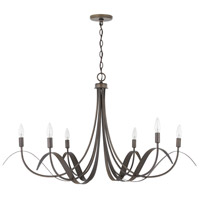 Capital Lighting 434761TB Tess 6 Light 43 inch Tobacco Chandelier Ceiling Light