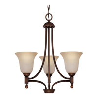 Capital Lighting Metropolitan 3 Light Fluorescent Chandelier in Burnished Bronze with Mist Scavo Glass 4353BB-252-GU
