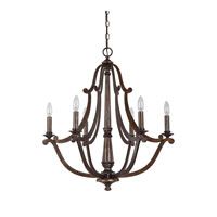 Capital Lighting Corday 6 Light Chandelier in Rustic 4366RT