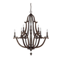 Capital Lighting Corday 9 Light Chandelier in Rustic 4369RT photo thumbnail