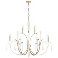 Capital Lighting 437001WG Gwyneth 10 Light 43 inch Winter Gold Chandelier Ceiling Light