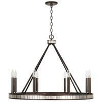 Capital Lighting 437481FZ Chaucer 8 Light 34 inch Buffed Bronze Chandelier Ceiling Light
