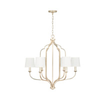 Capital Lighting 438761WG-698 Ophelia 6 Light 31 inch Winter Gold Chandelier Ceiling Light
